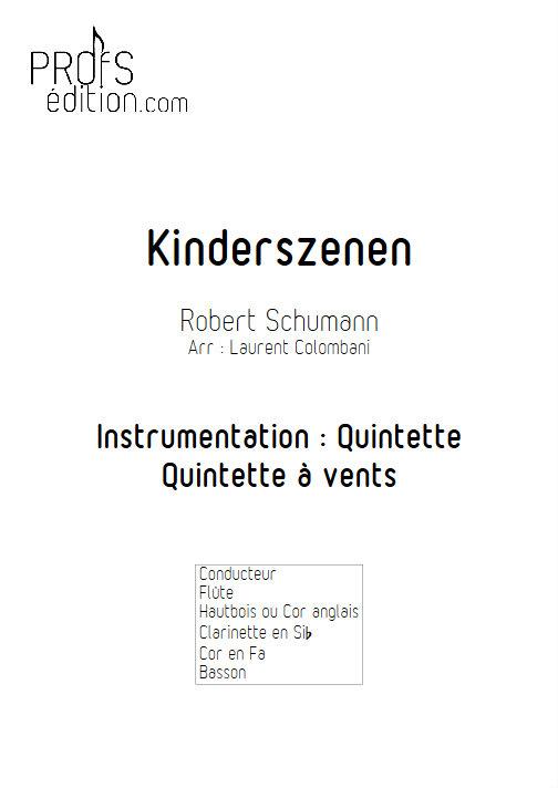 Kinderszenen - Quintette à Vents - SCHUMANN R. - front page