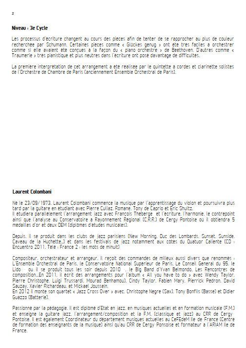 Kinderszenen - Quintette à Vents - SCHUMANN R. - Educationnal sheet