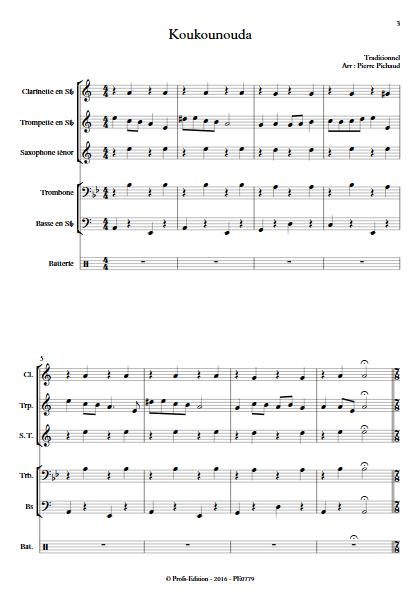 Koukounouda - Fanfare - TRADITIONNEL - app.scorescoreTitle