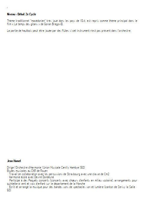 Kustino Oro - Orchestre d'Harmonie - TRADITIONNEL - Educationnal sheet