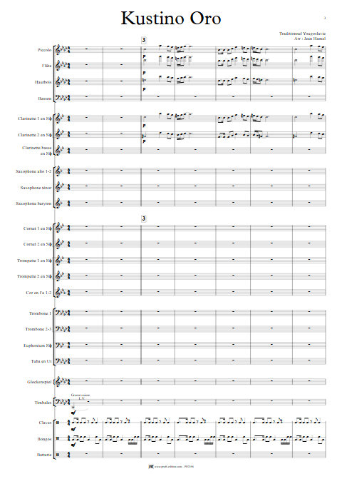 Kustino Oro - Orchestre d'Harmonie - TRADITIONNEL - app.scorescoreTitle