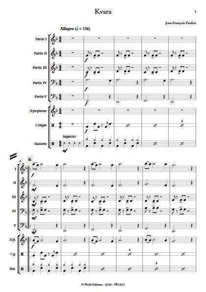 Kvara - Ensemble Variable - PAULEAT J. F. - app.scorescoreTitle