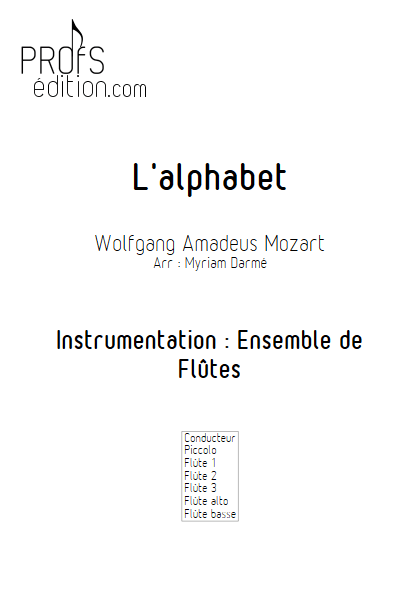 L'Alphabet - Ensemble de Flûtes - TRADITIONNEL - front page