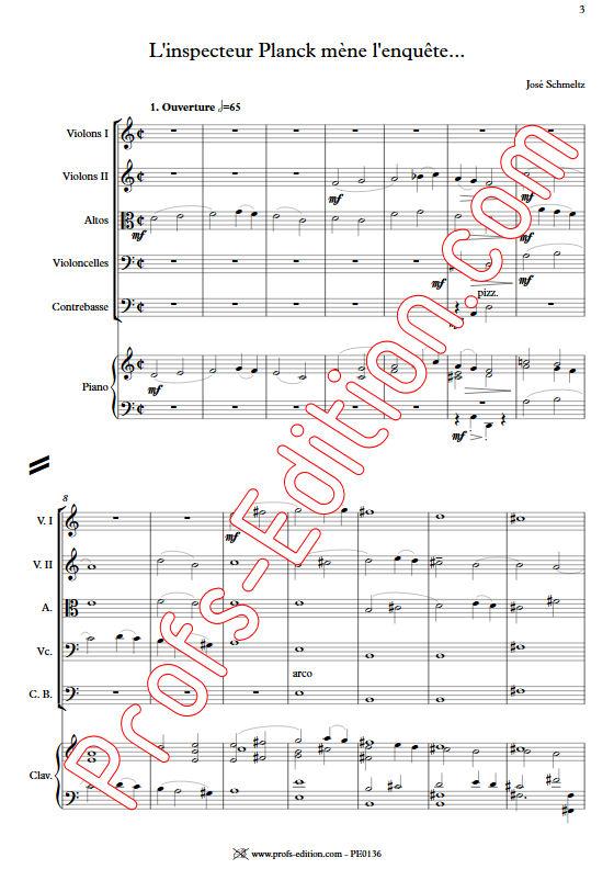 L'inspecteur Planck mène l'enquête - Orchestre Cordes - SCHMELTZ J. - app.scorescoreTitle