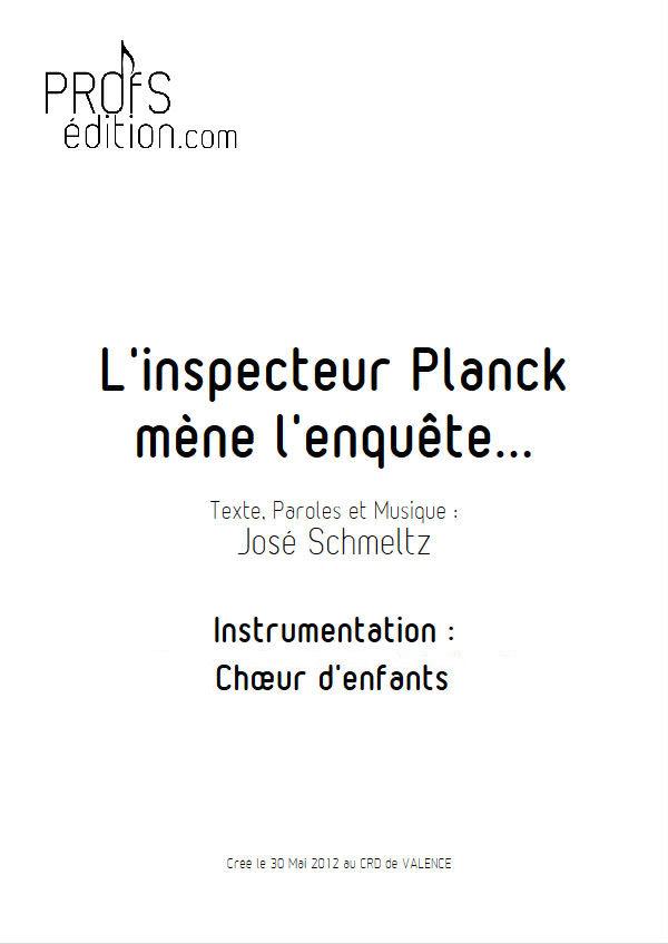 L'inspecteur Planck mène l'enquête - Chœur seul - SCHMELTZ J. - front page