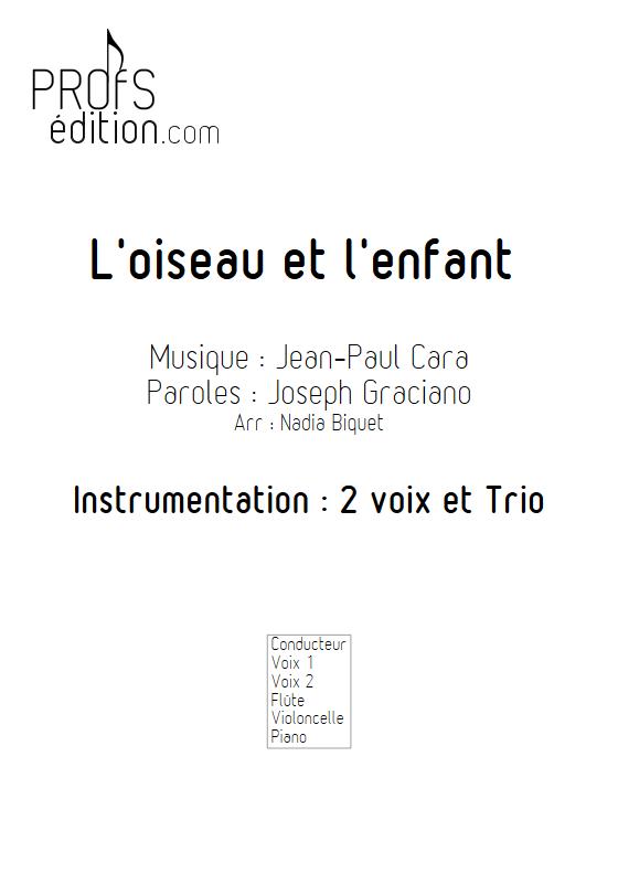 L'Oiseau et l'enfant - 2 voix et Trio - CARA J.P. - front page