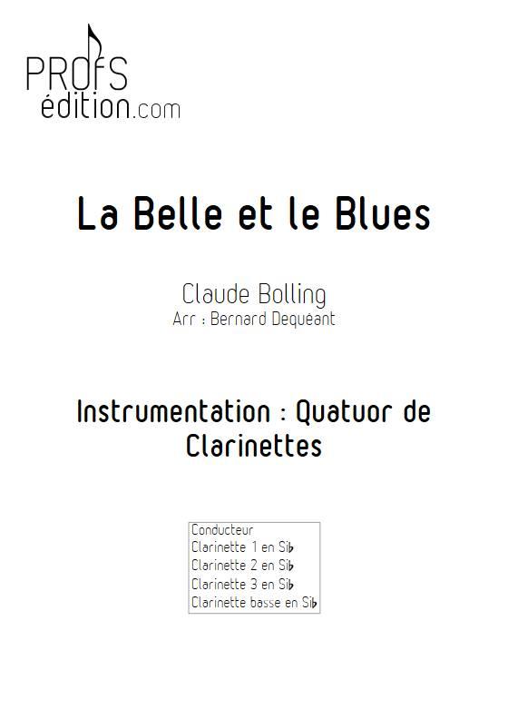 La Belle et le Blues - Quatuor de Clarinettes - BOLLING C. - front page