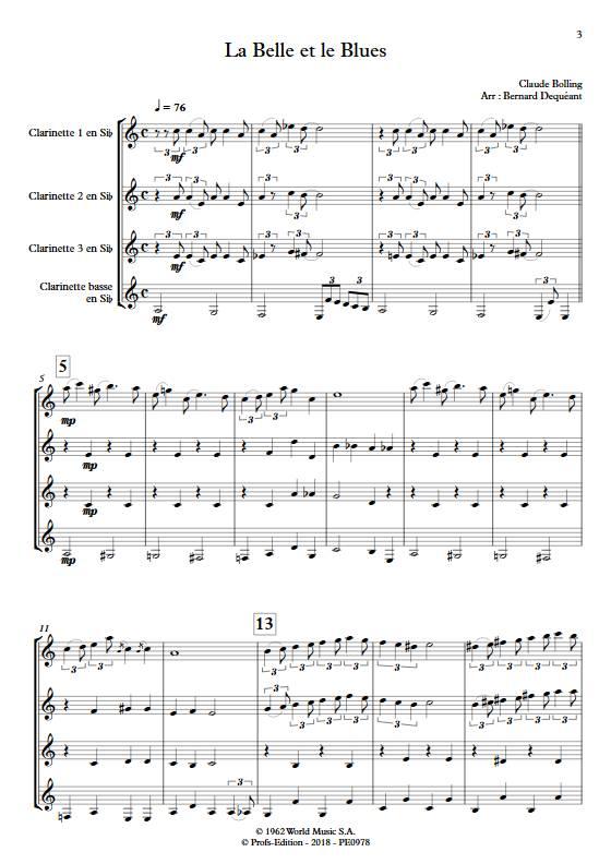 La Belle et le Blues - Quatuor de Clarinettes - BOLLING C. - app.scorescoreTitle