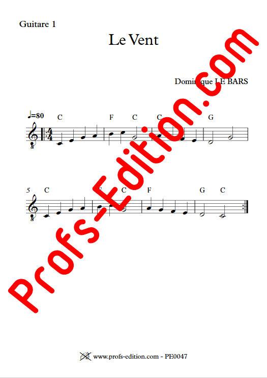 Le Vent - Duos Guitare - LE BARS D. - app.scorescoreTitle