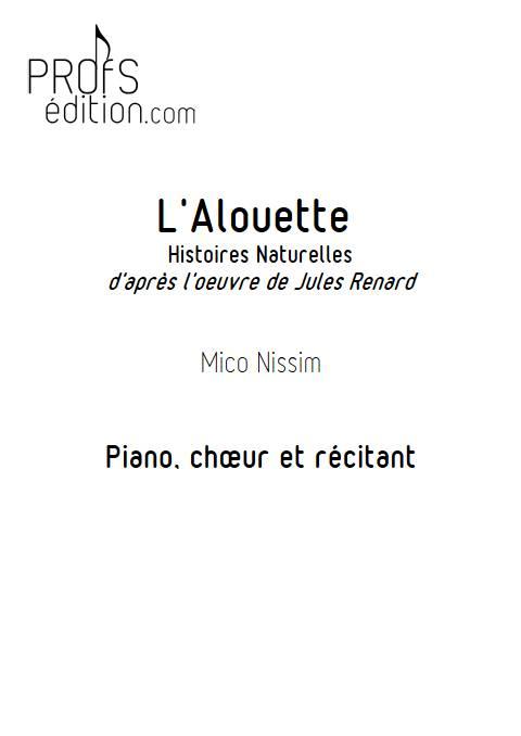 L'Alouette - Chœur et Piano - NISSIM M. - front page