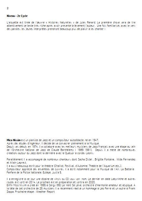 L'Alouette - Chœur et Piano - NISSIM M. - Educationnal sheet
