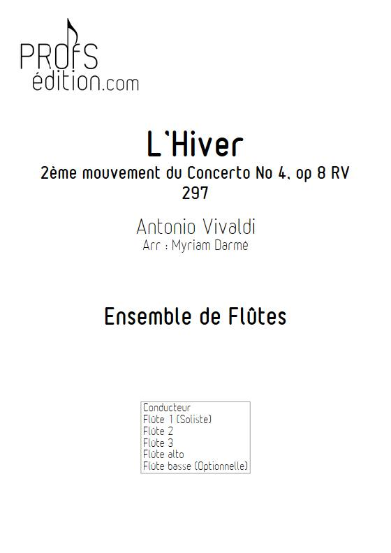 L'Hiver 2e mvt - Ensemble de Flûtes - VIVALDI A. - front page