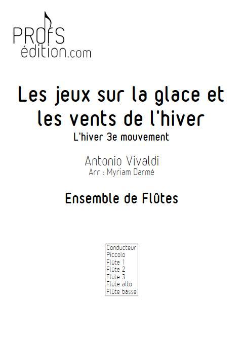 L'hiver - 3e mvt - Ensemble de Flûtes - VIVALDI A. - front page