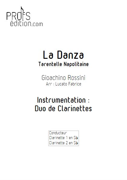 La Danza - Duo de Clarinettes - ROSSINI G. - front page