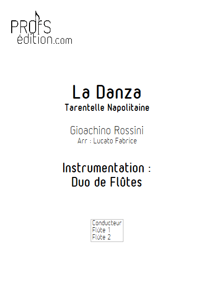 La Danza - Duo de Flûtes - ROSSINI G. - front page