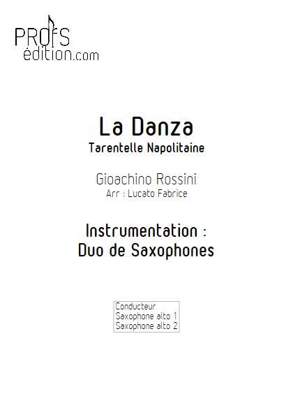 La Danza - Duo de Saxophones - ROSSINI G. - front page