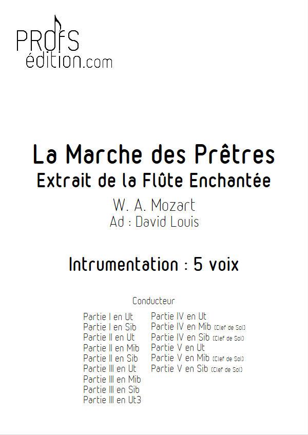 La Marche des Prêtres (La flûte enchantée) - Ensemble Géométrie Variable - MOZART W. A. - front page