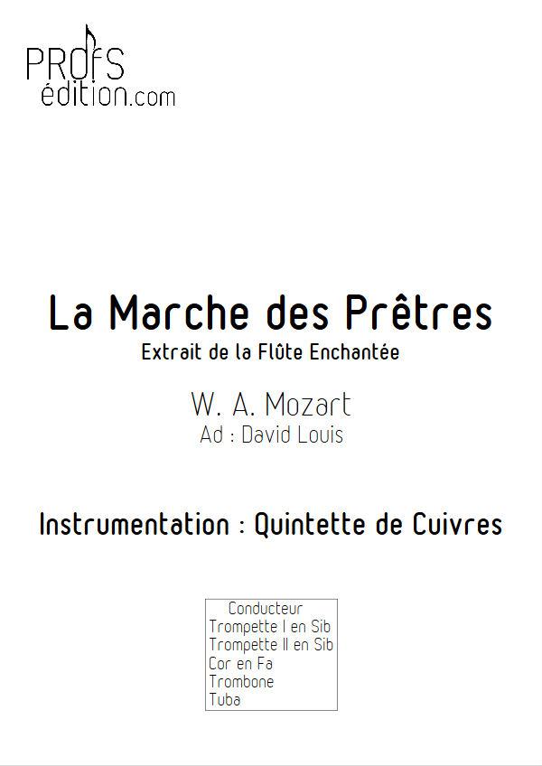 La Marche des Prêtres - Quintette Cuivres - MOZART W. A. - front page