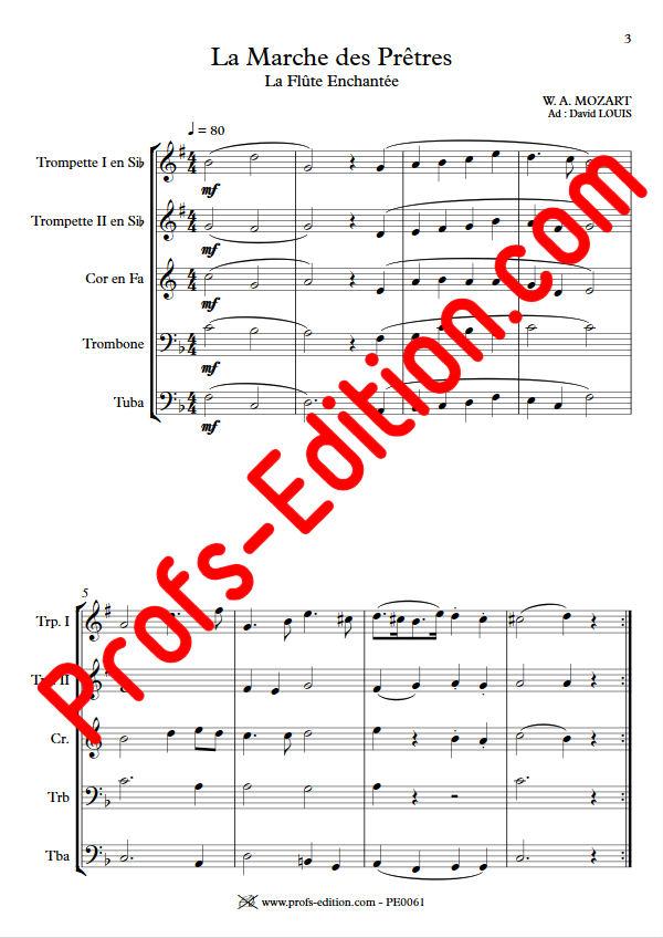 La Marche des Prêtres - Quintette Cuivres - MOZART W. A. - app.scorescoreTitle
