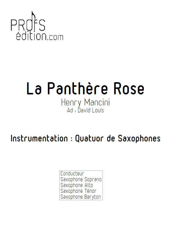 La Panthère Rose - Quatuor de Saxophones - MANCINI H. - front page