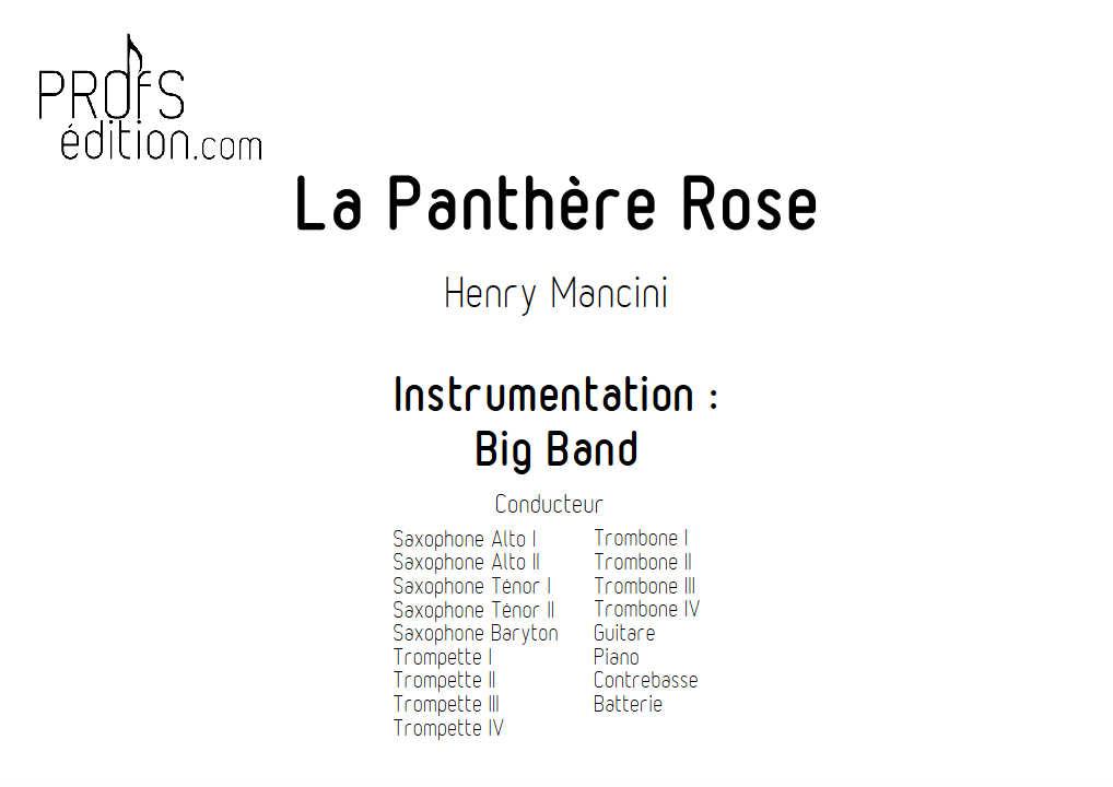 La Panthère Rose - Big Band - MANCINI H. - front page