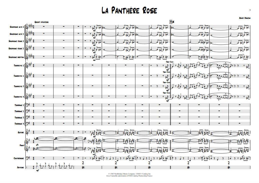 La Panthère Rose - Big Band - MANCINI H. - app.scorescoreTitle