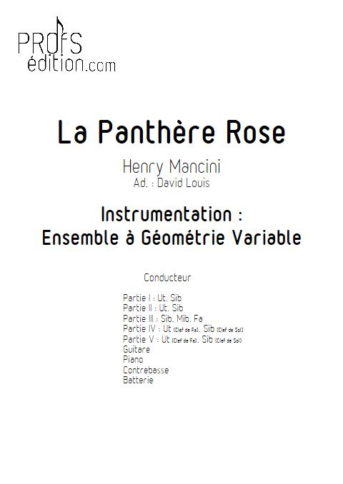 La Panthère Rose - Ensemble à Géométrie Variable - MANCINI H. - front page