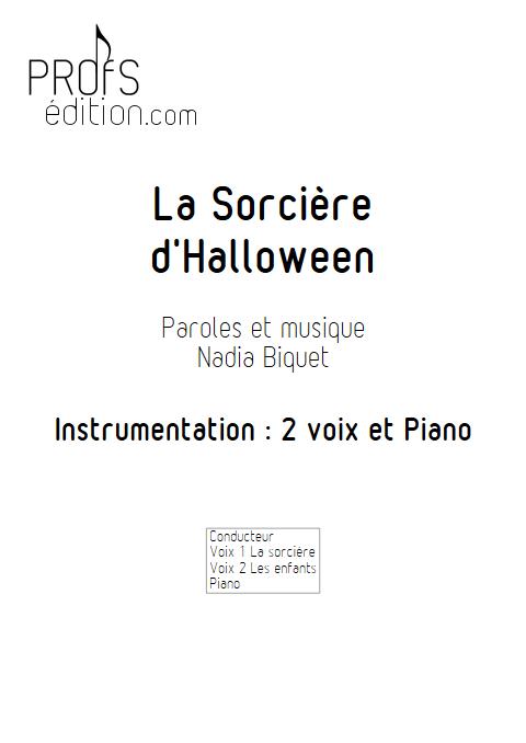 La Sorcière d'Halloween - Piano Voix - BIQUET N. - front page