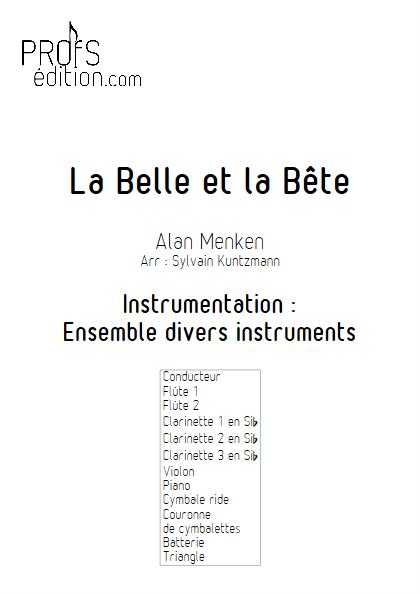 La Belle et la Bête - Ensemble Divers - MENKEN A. - front page