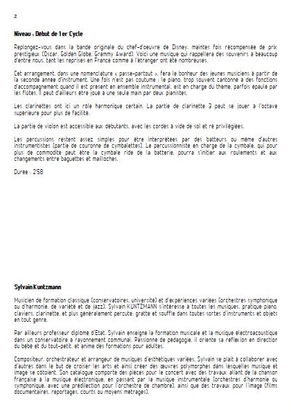 La Belle et la Bête - Ensemble Divers - MENKEN A. - Educationnal sheet