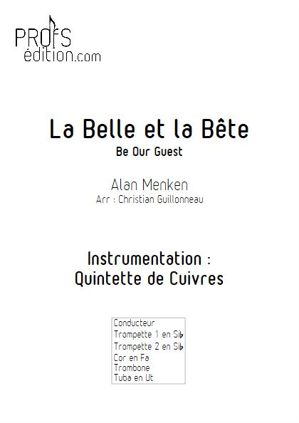La Belle et le Bête (C'est la Fête) - Quintette de Cuivres - MENKEN A. - front page