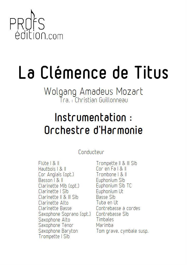 La Clémence de Titus - Orchestre d'harmonie - GUILLONNEAU C. - front page
