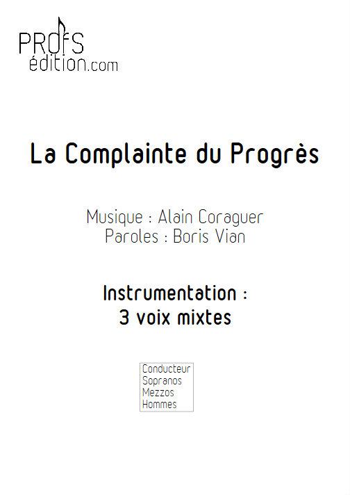 La Complainte du Progrès - Chœur 3 voix mixtes - VIAN B. - front page