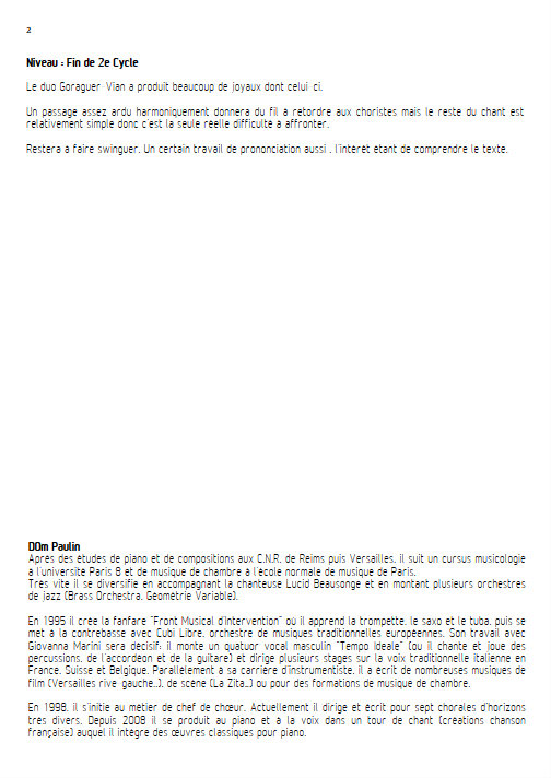 La Complainte du Progrès - Chœur 3 voix mixtes - VIAN B. - Educationnal sheet
