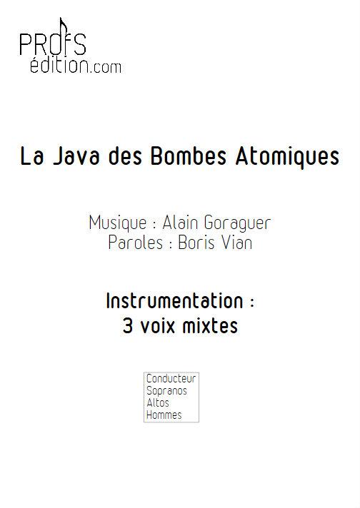 La Java des bombes Atomiques - Chœur 3 voix mixtes - VIAN B. - front page