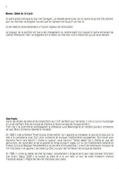 La Java des bombes Atomiques - Chœur 3 voix mixtes - VIAN B. - Educationnal sheet