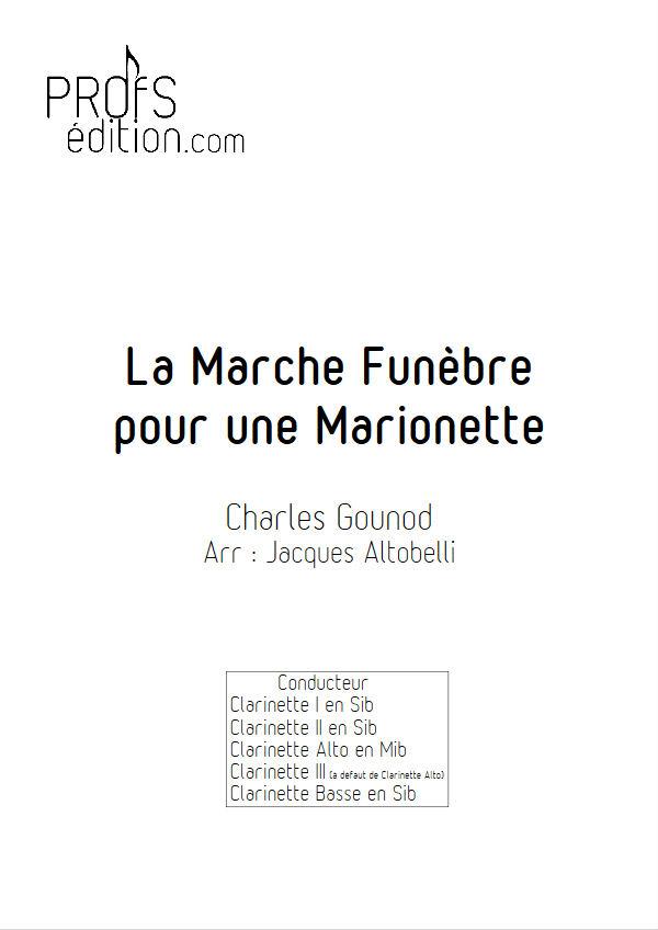 La marche funèbre de la Marionette - Quatuor Clarinettes - GOUNOD C. - front page