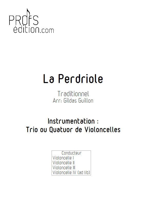 La Perdriole - Trio ou Quatuor Violoncelles - TRADITIONNEL - front page