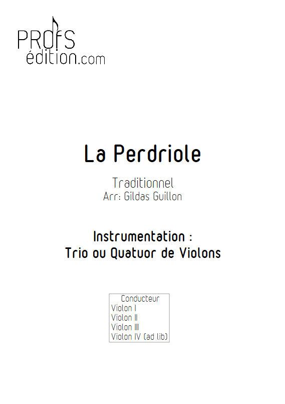 La Perdriole - Trio ou Quatuor Violons - TRADITIONNEL - front page