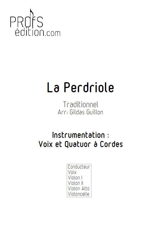 La Perdriole - Quatuor à cordes & Voix - TRADITIONNEL - front page