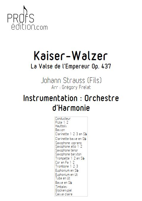 La valse de l'Empereur - Orchestre d'Harmonie - FRELAT G. - front page