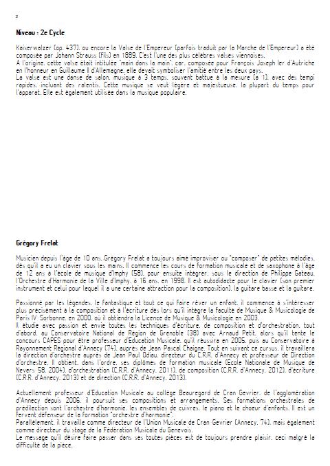 La valse de l'Empereur - Orchestre d'Harmonie - FRELAT G. - Educationnal sheet