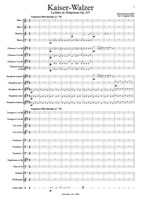 La valse de l'Empereur - Orchestre d'Harmonie - FRELAT G. - app.scorescoreTitle