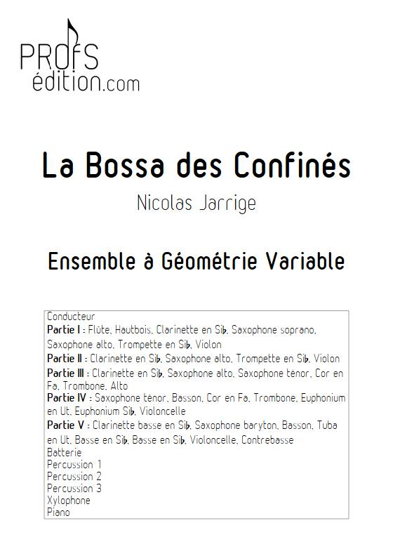 La Bossa des Confinés - Ensemble Variable - JARRIGE N. - front page