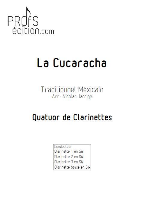 La Cucaracha - Quatuor de clarinettes - TRADITIONNEL MEXICAIN - front page