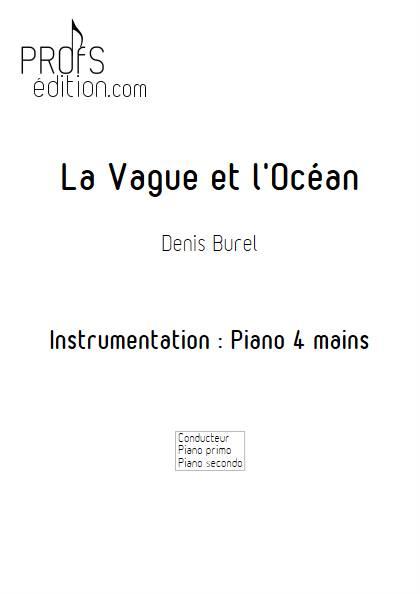 La Vague et l'Ocean - Piano 4 mains - BUREL D. - front page