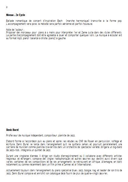 La Vague et l'Ocean - Piano 4 mains - BUREL D. - Educationnal sheet