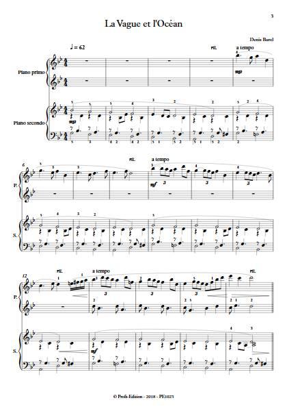 La Vague et l'Ocean - Piano 4 mains - BUREL D. - app.scorescoreTitle