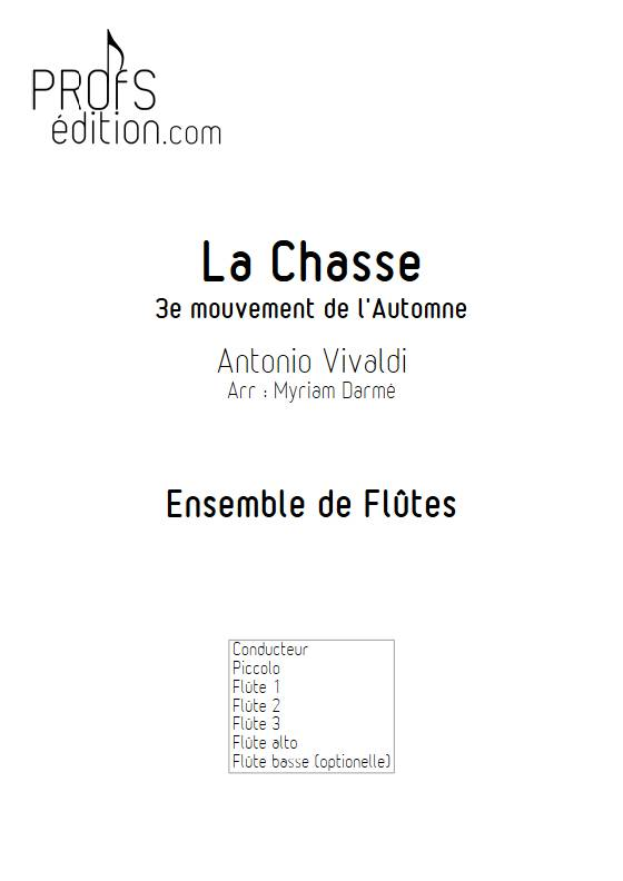 La Chasse - Ensemble de Flûtes - VIVALDI A. - front page