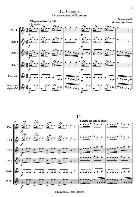La Chasse - Ensemble de Flûtes - VIVALDI A. - app.scorescoreTitle